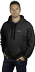 Unisex black pull-over hoodie - front