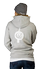 Men's Grey pull-over hoodie - back