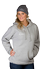 Men's Grey pull-over hoodie - front