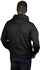 Unisex black pull-over hoodie - back