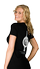 Women's Black T-shirt back