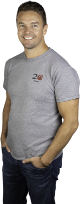 Men's Grey 20th Anniversary T-shirt