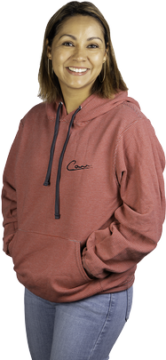 Unisex Red Stripe Pull-over Hoodie