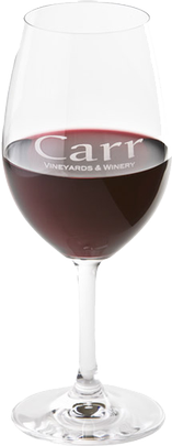 Carr Logo Wine Glass