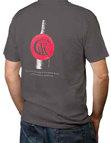 Men's Grey Wine Bottle T-shirt