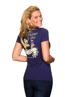 Women's Purple Harvest Girl T-shirt