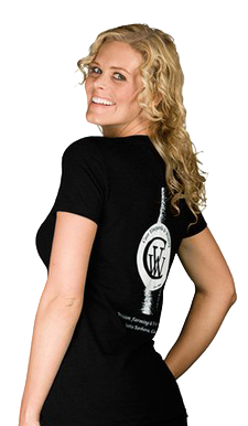 Women's Black Wine Bottle T-shirt Image