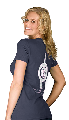 Women's Navy Wine Bottle T-shirt