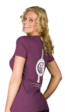 Women's Plum Wine Bottle T-shirt