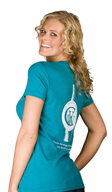 Women's Turquoise Wine Bottle T-shirt
