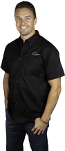 Men's Black Work Shirt