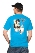 Men's Teal Harvest Girl T-shirt