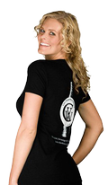 Women's Black Wine Bottle T-shirt